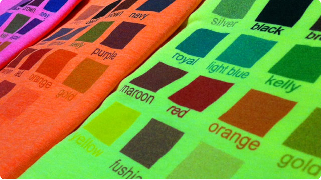 Printing on Custom Neon Shirts