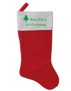 Personalized Holiday Stocking only $9.97