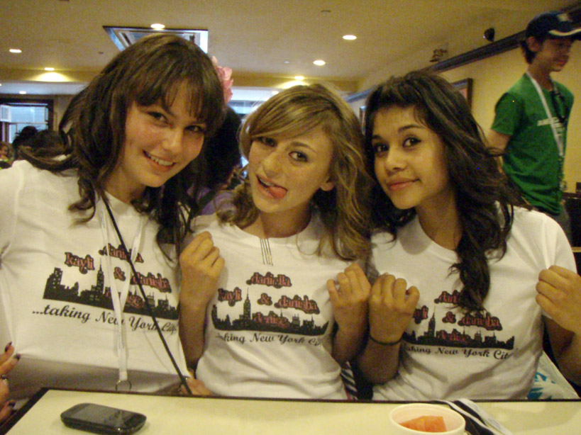 ... friends wore custom t-shirts on their 8th grade trip to New York City