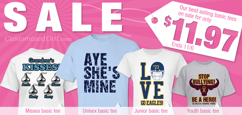 5e1996a0b90 Our Best Selling Basic Tees are on Sale! - CustomizedGirl Blog