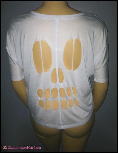 Diy Skeleton Rib Cage Cut Out Shirt - Diy (Do It Your Self)