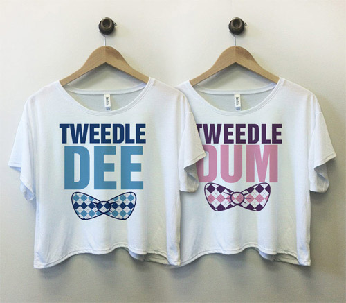 Tweedle Dee and Tweedle Dum Tees