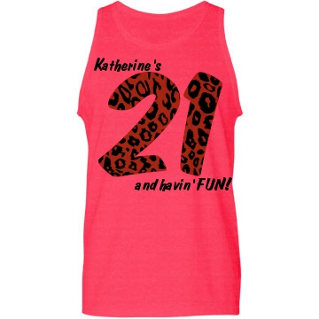 21st Birthday Fun Neon Custom American Apparel Tank Top
