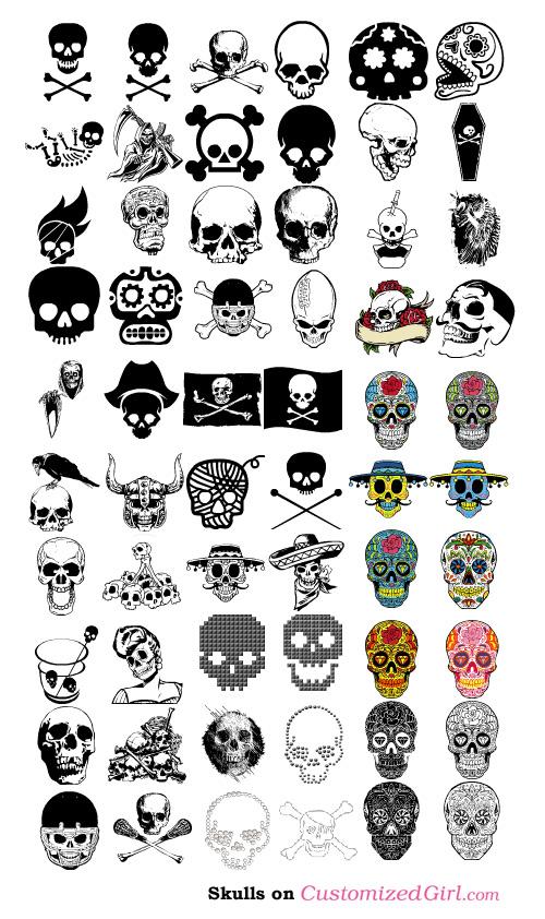 Custom Tank Top Skull Art