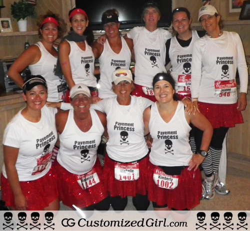 Custom Tank Tops Skulls Running