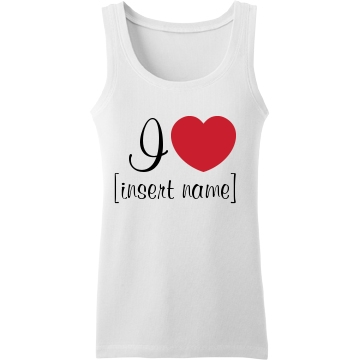 I Heart Plus Custom Tank Top