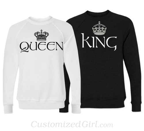 Matching Couple Shirts - King and Queen
