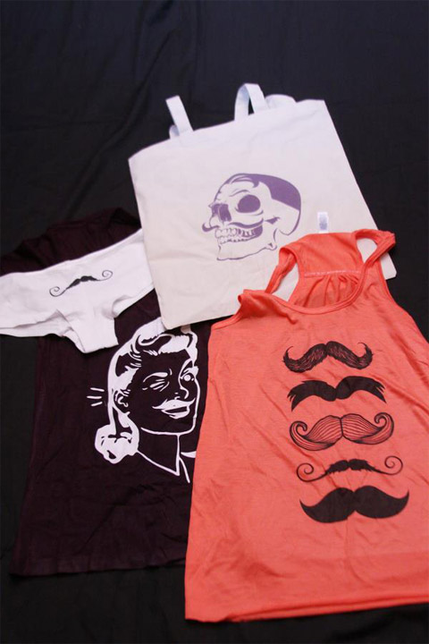 Mustache Apparel for the RVA Beard League Charity Raffle