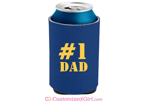Custom Can Cooler For Dad
