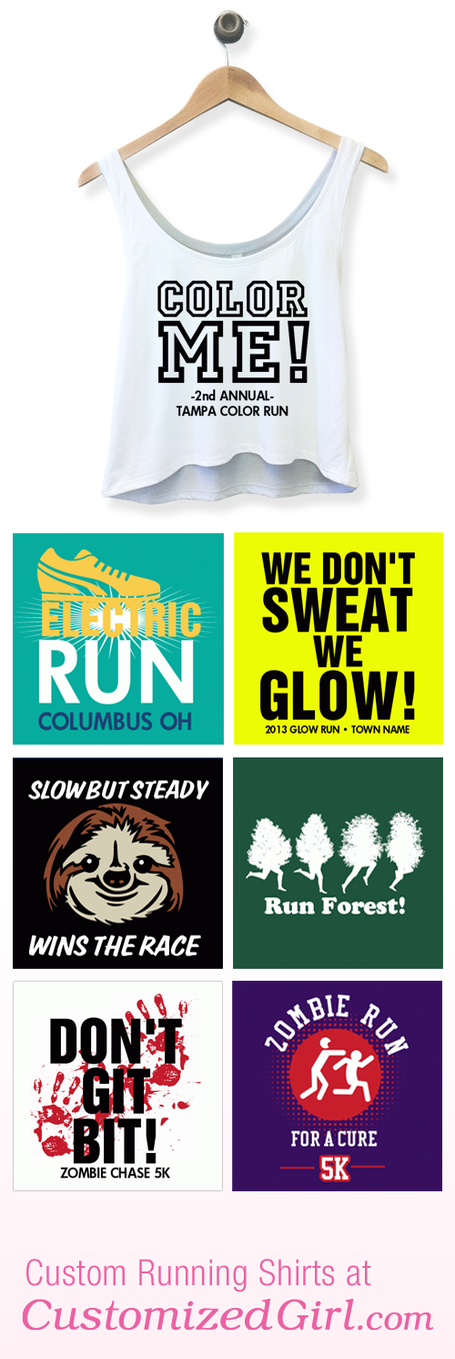 Custom running shirts