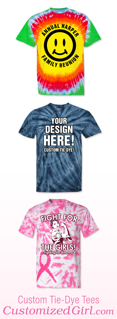Events for a custom tie dye shirt customizedgirl blog for Customized tie dye shirts