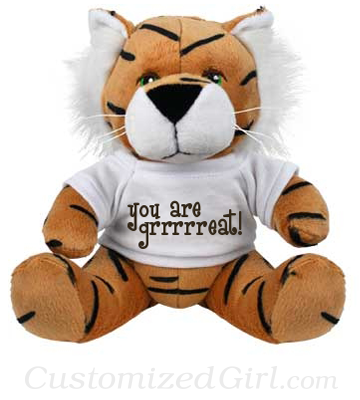 Custom Stuffed Animal Tiger
