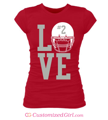 Football Girlfriend Shirt Love
