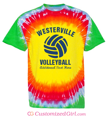 Volleyball tie dye shirt