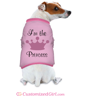 Custom Dog Shirts Princess