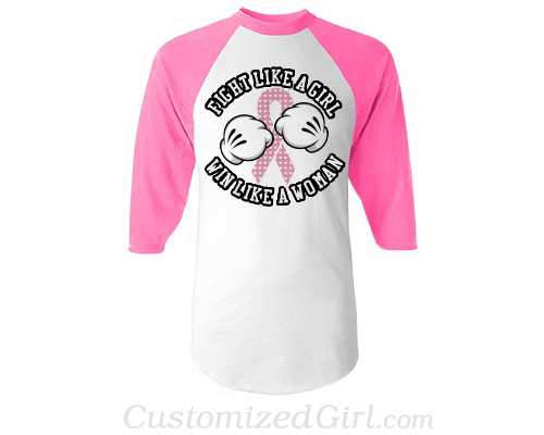 Fight like a girl breast cancer shirt