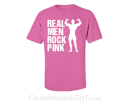 Real Men Rock Pink Breast Cancer Shirt