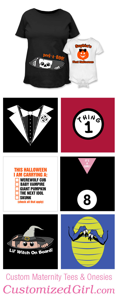 Halloween Maternity Shirts and Halloween Onesies