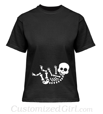 Halloween Maternity Skeleton Baby Shirt