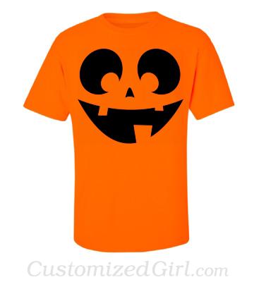 Halloween jack-o-lantern shirt