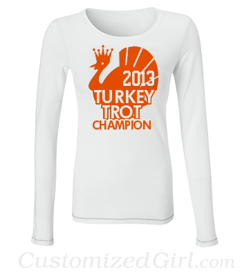 Turkey Trot Champion Custom Shirt