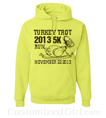 Turkey Trot Neon Custom Shirt