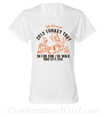 Turkey Trot Race Custom Shirt