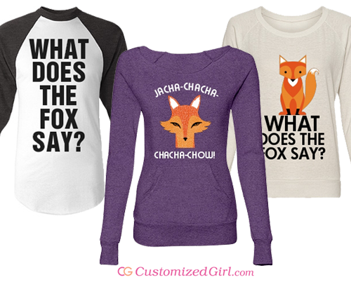 Custom What Does The Fox Say Shirts