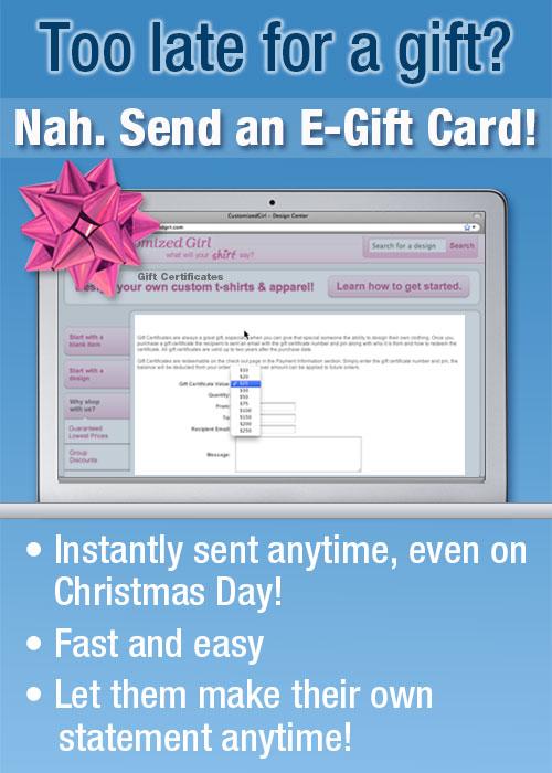 Customized Girl Gift Card Electronic