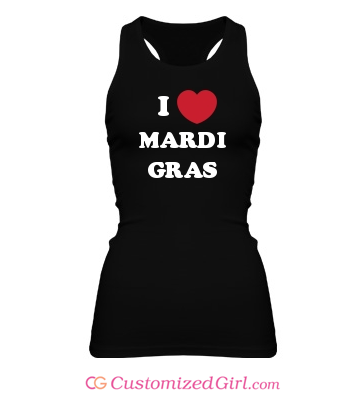 I Heart Mardi Gras Shirt