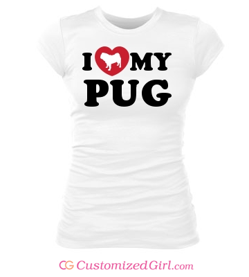 I Heart My Pug Shirt
