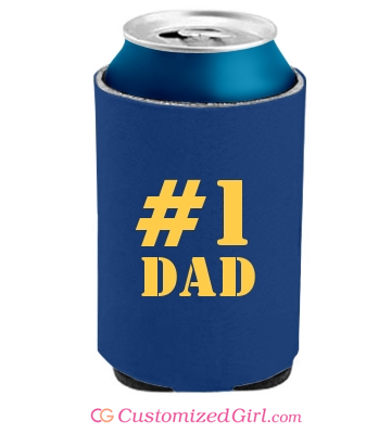 Number One Dad Can Cooler
