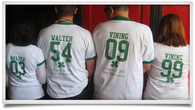 St Patricks Day Team Numbers Shirts