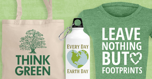 Custom Earth Day Water Bottles and Tees