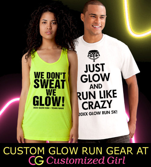 Custom Glow Run Shirts