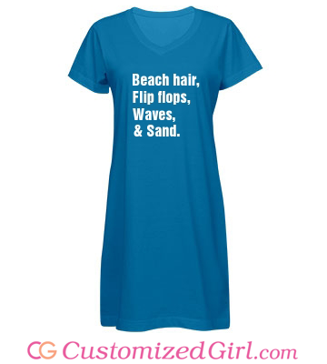 Beach Hair And Sand Custom Cover Up