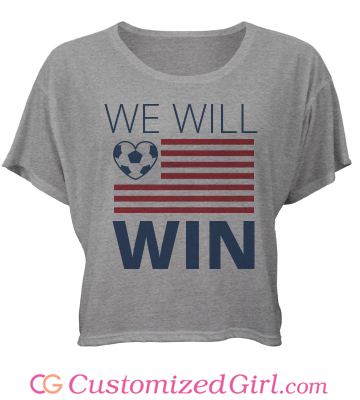 USA Will Win custom crop top