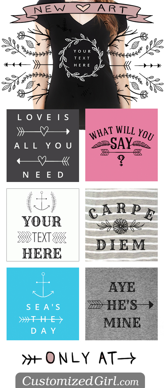 Trendy Handrawn Art for Custom Shirts