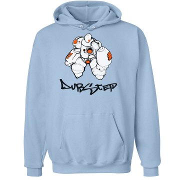 White Robo Dubstep Unisex Hanes Ultimate Cotton Heavyweight Hoodie