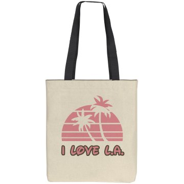 I Love LA Sunset Liberty Bags Cotton Canvas Tote