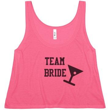 Team Bride Pink Flowy Tank Top