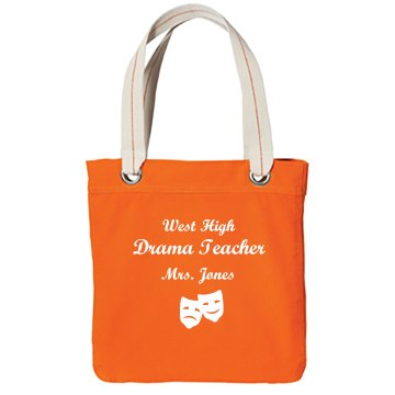 West High Drama Teacher  Port Authority Color Canvas Tote