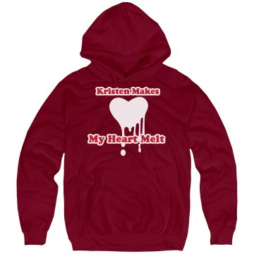 Heart Melting Hoodie Unisex Hanes Ultimate Cotton Heavyweight Hoodie