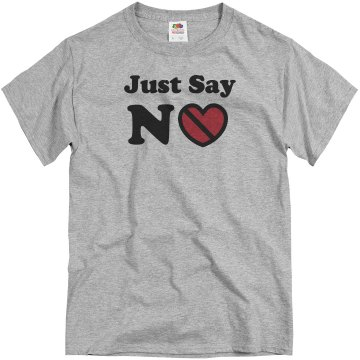 Anti-Valentines No Love Unisex Basic Gildan Heavy Cotton Crew Neck Tee