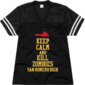 Keep Calm at San Romero Junior Fit Augusta Replica Football Jersey