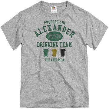 Drinking Team w/ Back Unisex Basic Gildan Heavy Cotton Crew Neck Tee
