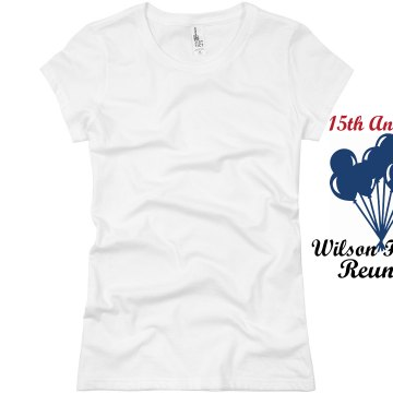 15th Annual Wison Reunion Junior Fit Basic Bella Favorite Tee