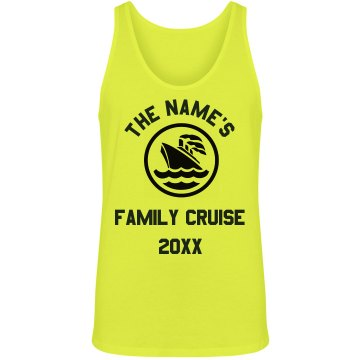 Custom Name Family Cruise Misses Relaxed Fit Basic Gildan Ultra Cotton Tee