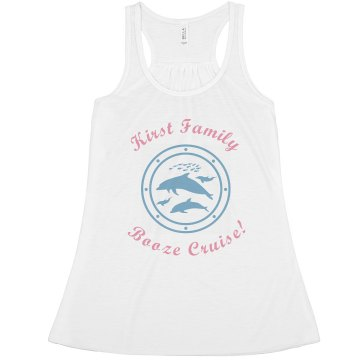 Custom Name Booze Cruise Misses Relaxed Fit Basic Anvil Heavyweight Tank Top