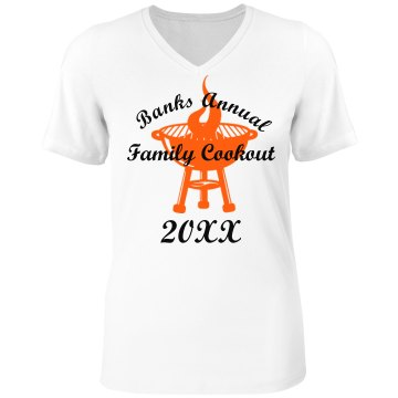 Banks Annual Cookout Tee Misses Relaxed Fit Anvil V-Neck Tee